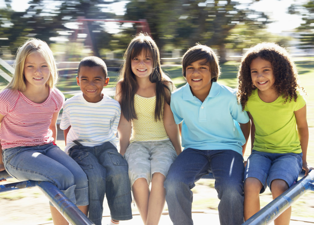 Group of pre-teens like  pictured benefit from pediatric dentistry services found at Southridge Dental in Surrey, BC Canada.