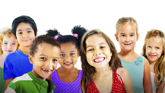 Image of group of children that all need comprehensive pediatric dentistry services to learn good oral health skills for life.